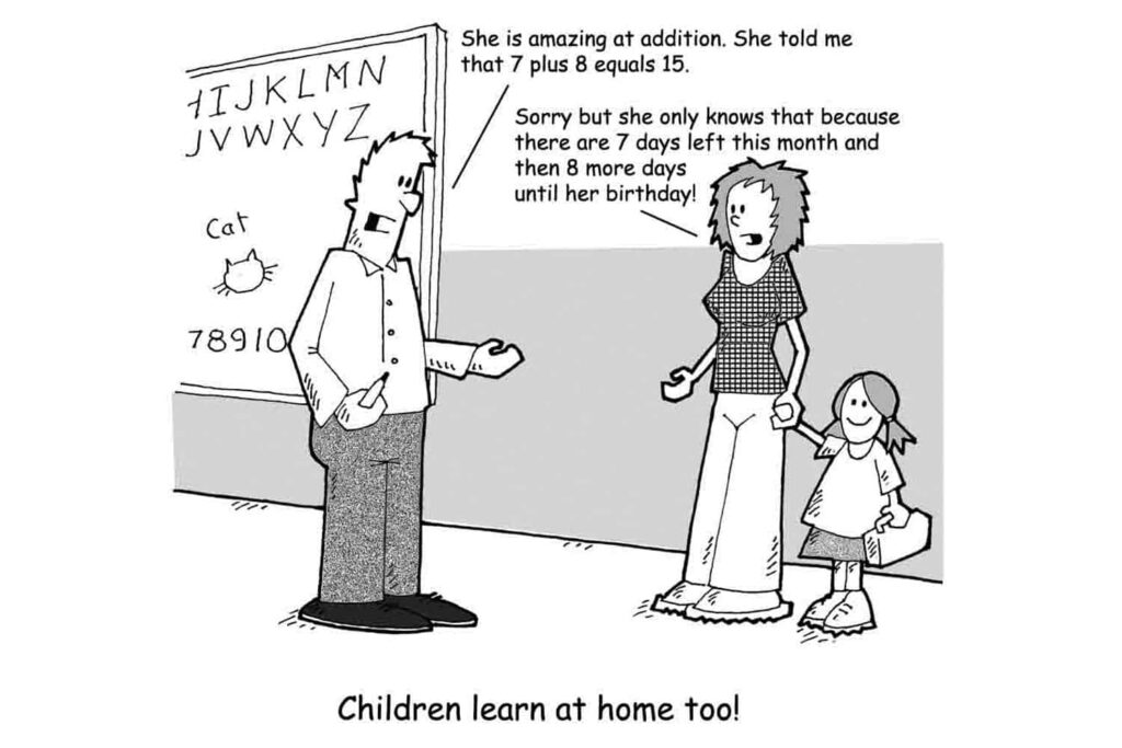 child learning discussion