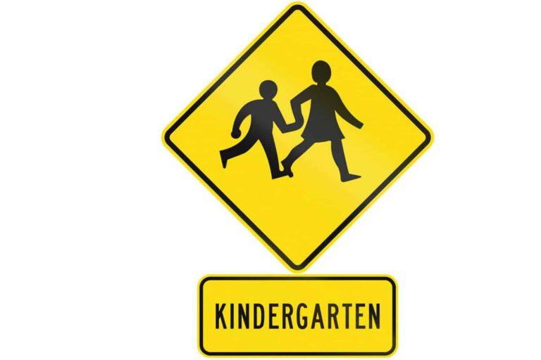 kindergarten sign
