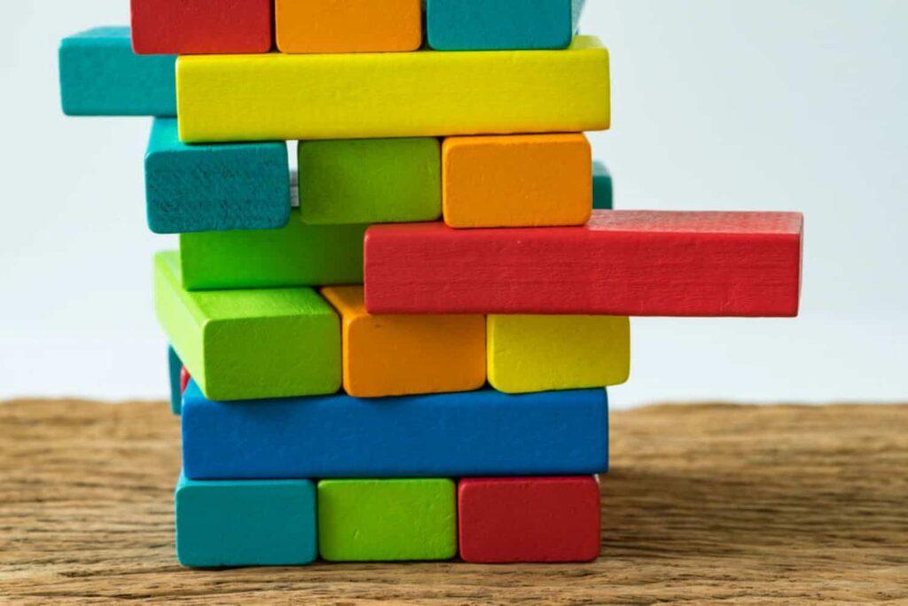 colourful preschool blocks