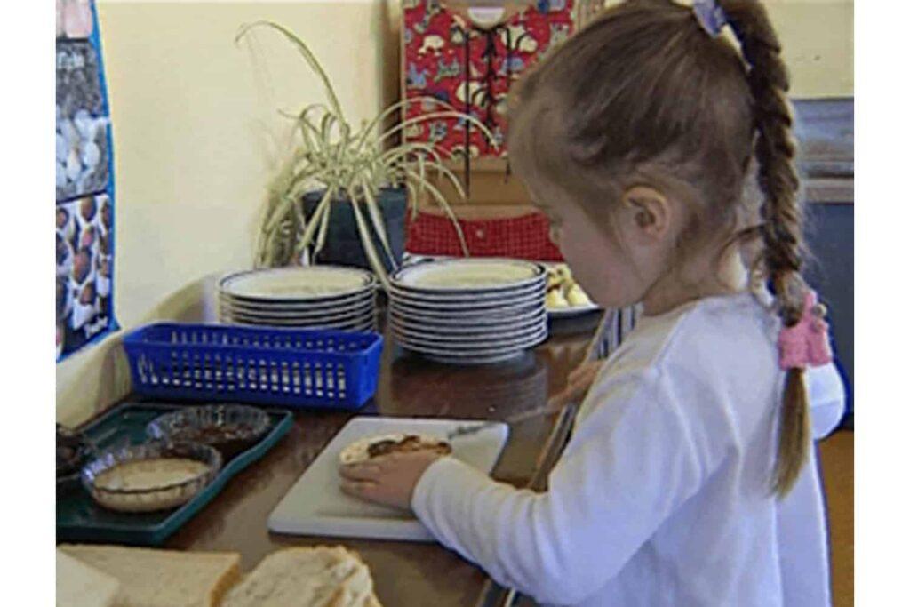 cooking Montessori self-help