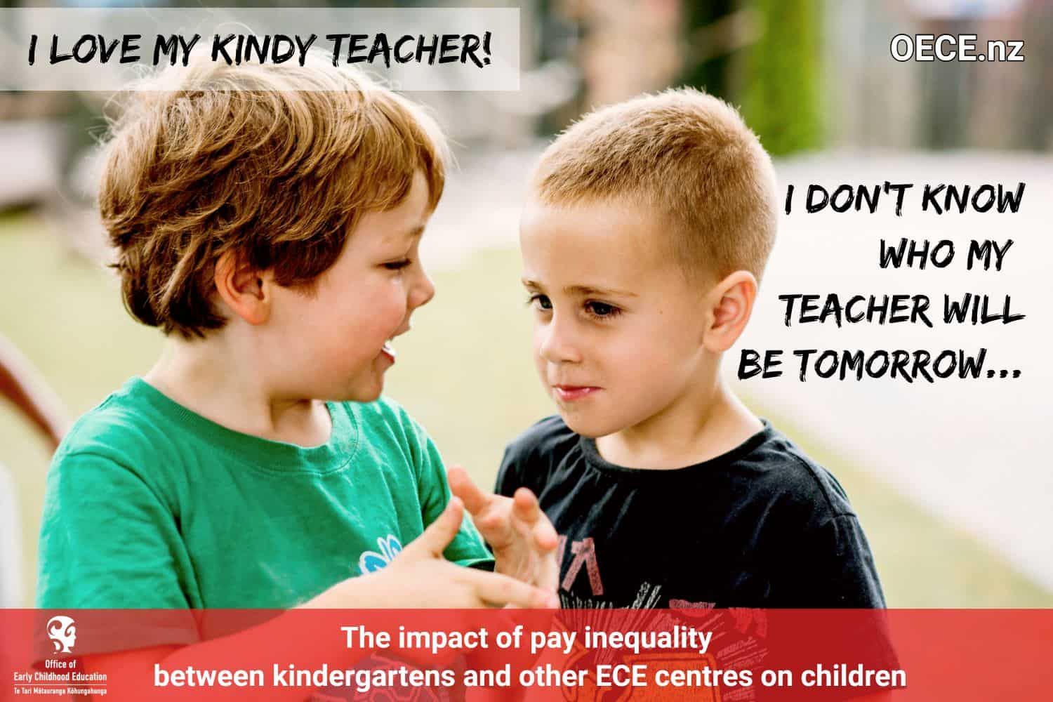 our teacher pay parity poster - staff retention, wages, equity
