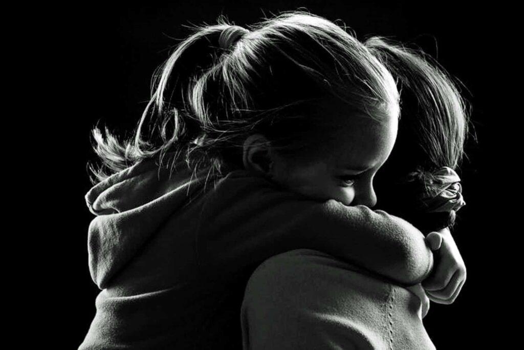comforting child