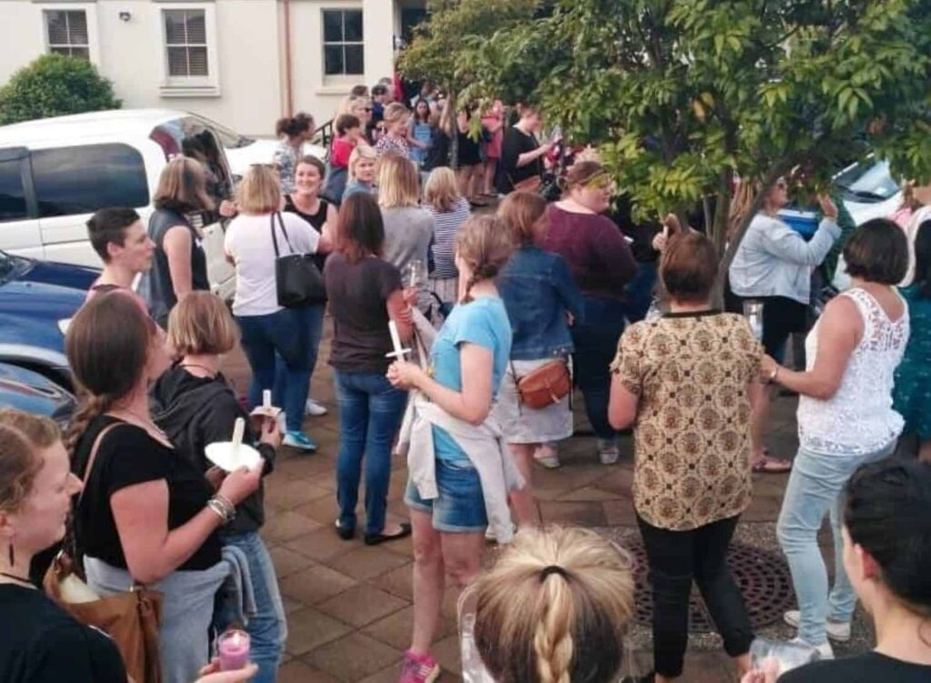 Vigil outside the Annual General Meeting of the Auckland Kindergarten Assn 2017