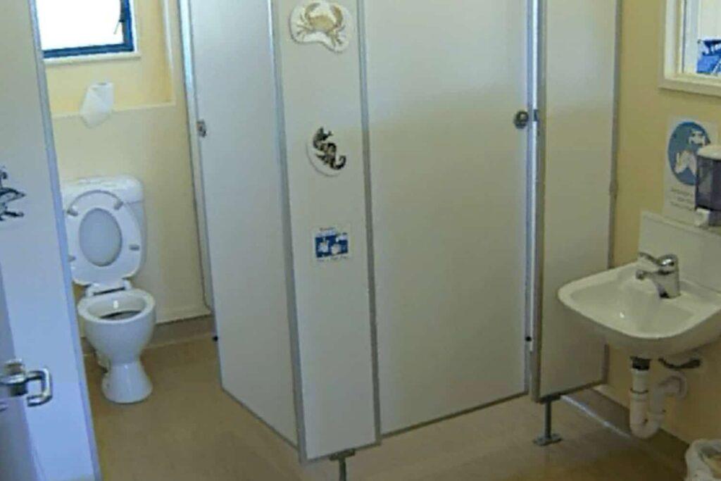 children's toilet bathroom door