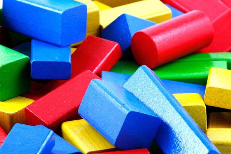 risk stability children's colourful blocks
