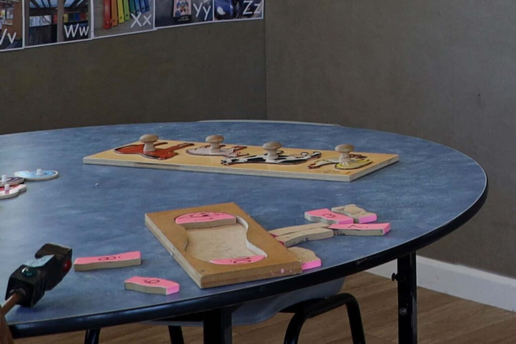 puzzles on table at NZ preschool